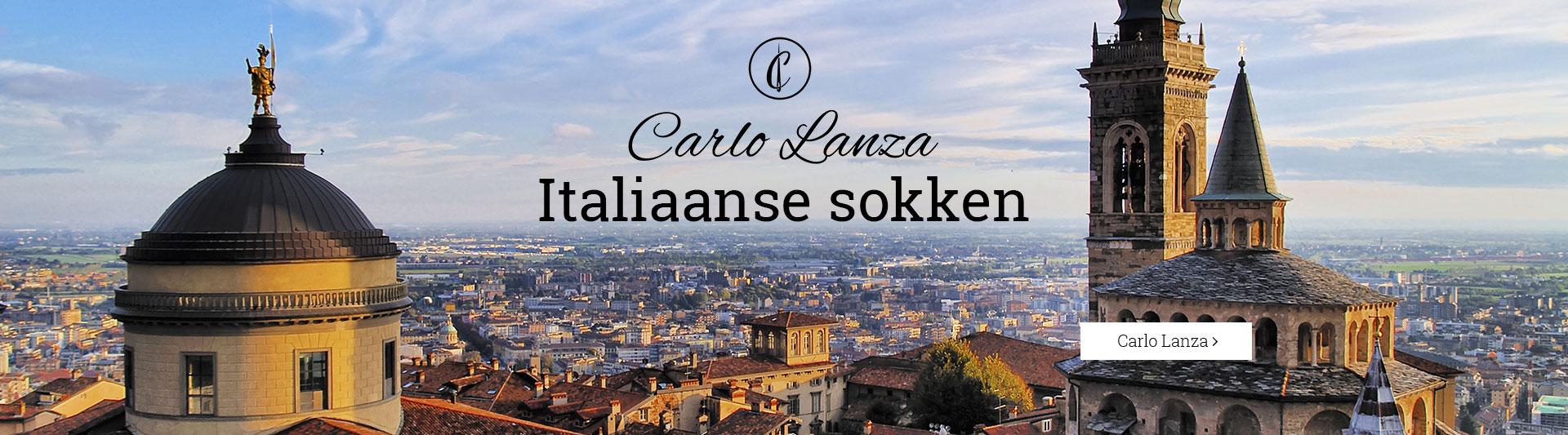 Carlo Lanza handgemaakte Italiaanse herensokken