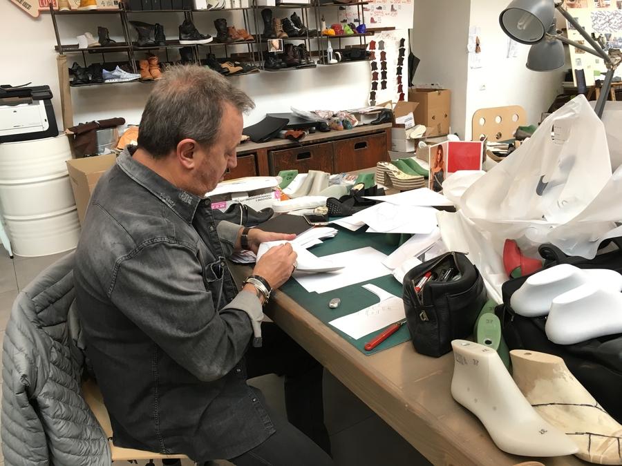 Mjus schoenen Italie ontwerpafdeling