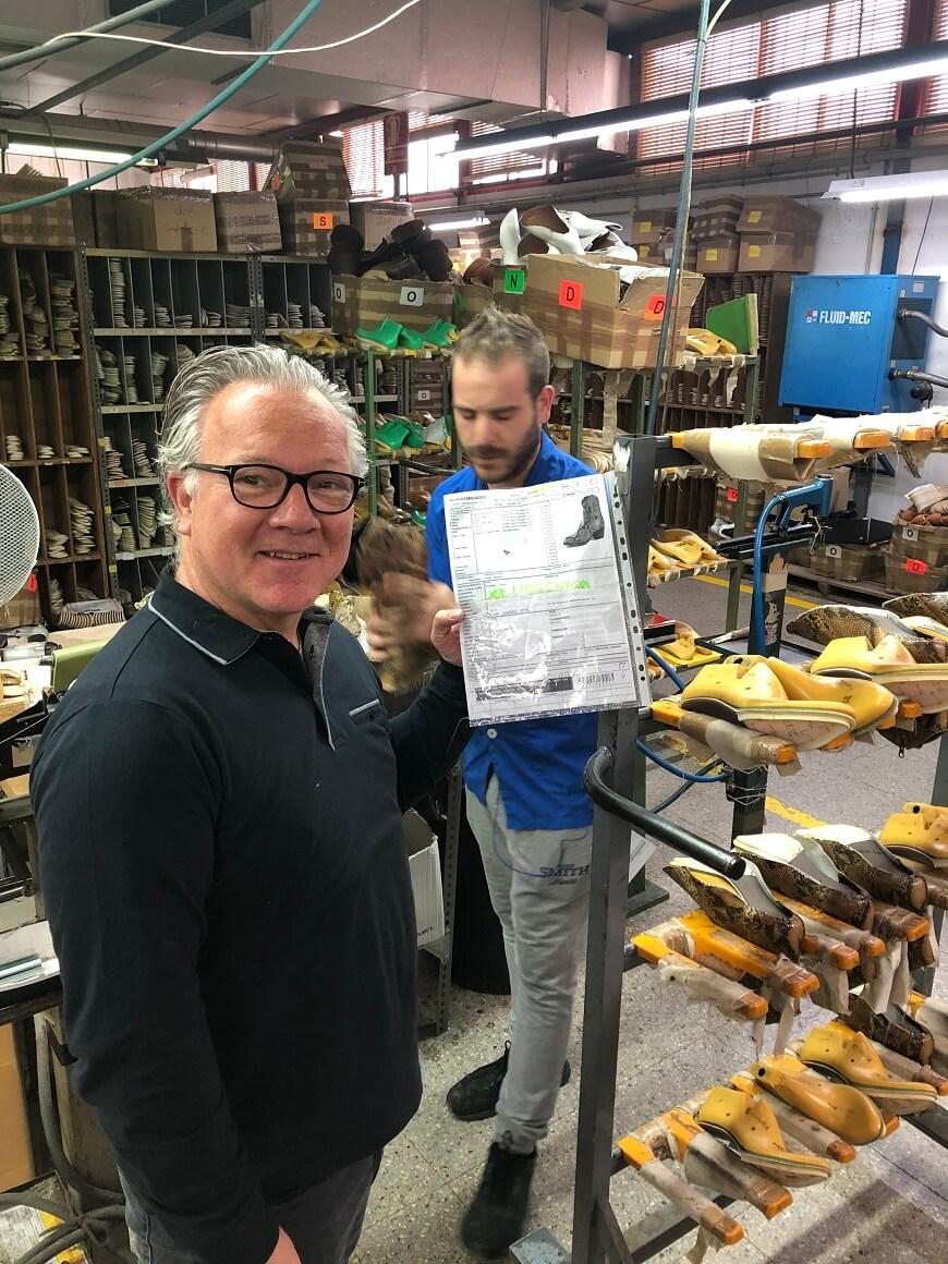Onze bestelling van de Sendra laarzen wordt geproduceerd.