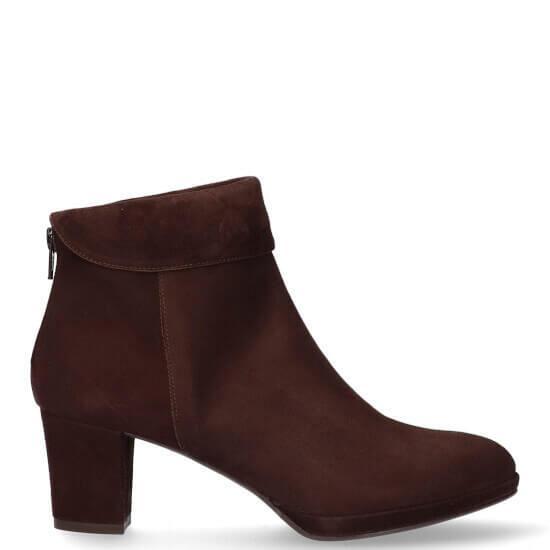 Shoecolate Damesschoenen Enkellaarsjes bruin | Aad van den Berg