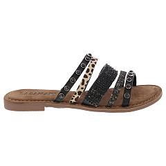 Lazamani Damesschoenen Slippers zwart