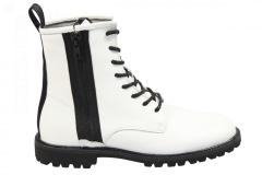 Blackstone Shoes Damesschoenen Veterlaarsjes wit