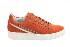 Shoecolate Damesschoenen Sneakers oranje