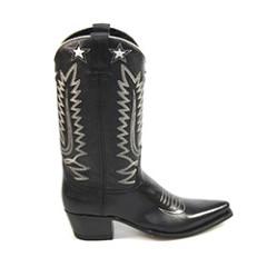 Sendra Damesschoenen Laarzen zwart