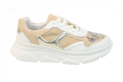 Shoecolate Damesschoenen Sneakers beige