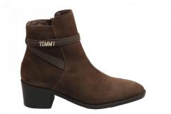 Tommy Hilfiger Damesschoenen Enkellaarsjes bruin
