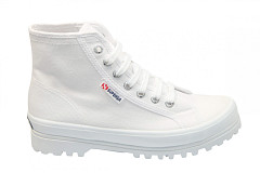 Superga Damesschoenen Veterlaarsjes wit