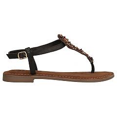 Lazamani Damesschoenen Sandalen bruin