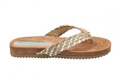Lazamani Damesschoenen Slippers goud