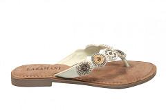 Lazamani Damesschoenen Slippers wit