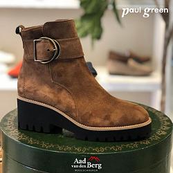 Paul Green Damesschoenen Enkellaarsjes bruin