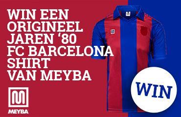 Win een origineel jaren '80 shirt FC Barcelona van Meyba