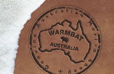 Warmbat sheepskin pantoffels uit  Australie