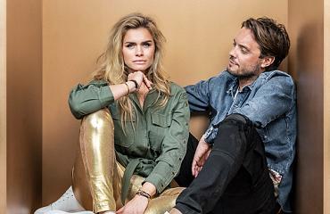 Limited edition sneakers van Nicolette van Dam en Bas Smit bij Aad van den Berg Modeschoenen