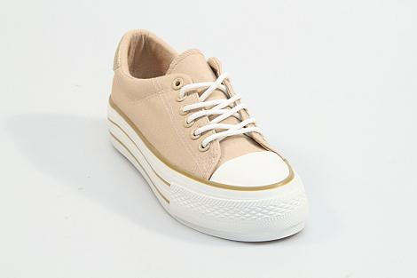 MonshoeFashion Damesschoenen Sneakers beige 1.10.15.062 231030047
