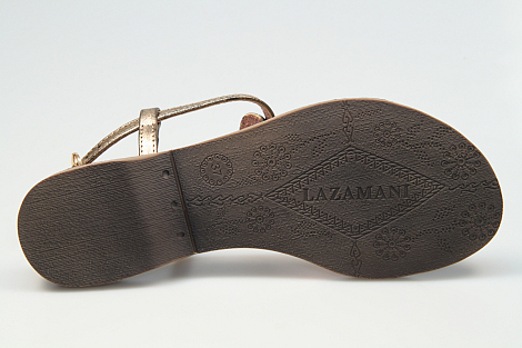 Lazamani Damesschoenen Sandalen brons 75.422 251003017