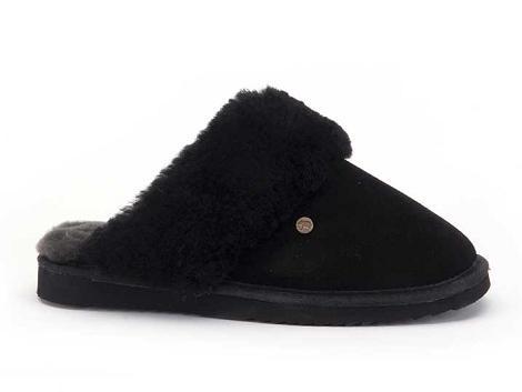 Warmbat Pantoffels zwart Flurry 521010012